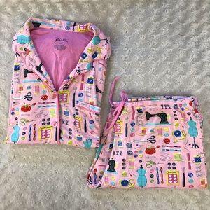 Nick & Nora Sewing Notions Pajama Set Pink